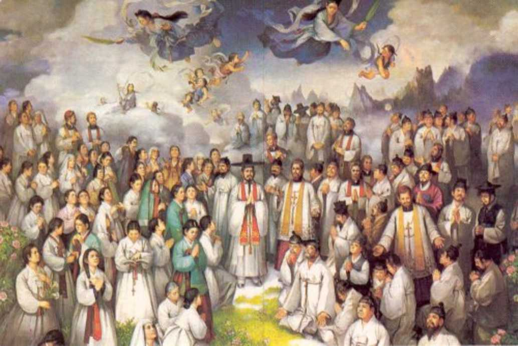 A nap Szentje Kim Taegon Szent András áldozópap Csong Haszang Szent Pál és társaik koreai vértanúk